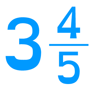 Example of a Mixed Number - Three and four fifths