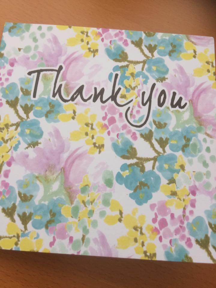 Received a thank you card in the post today from one of my GCSE students this year 3
