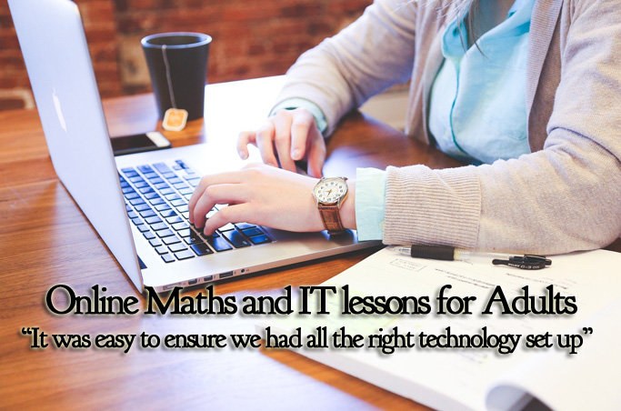 Online maths and IT lessons for Adults